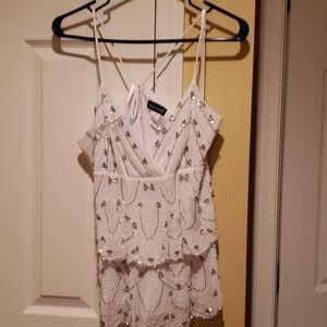 Spaghetti strapped blouse